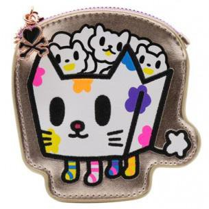 Camo Kawaii Kitty Pop Coin Purse