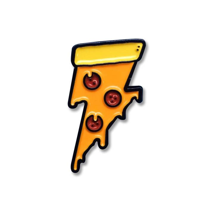Lightning Pizza Pin