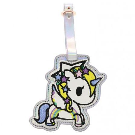 Camo Kawaii Unicorno Luggage Tag