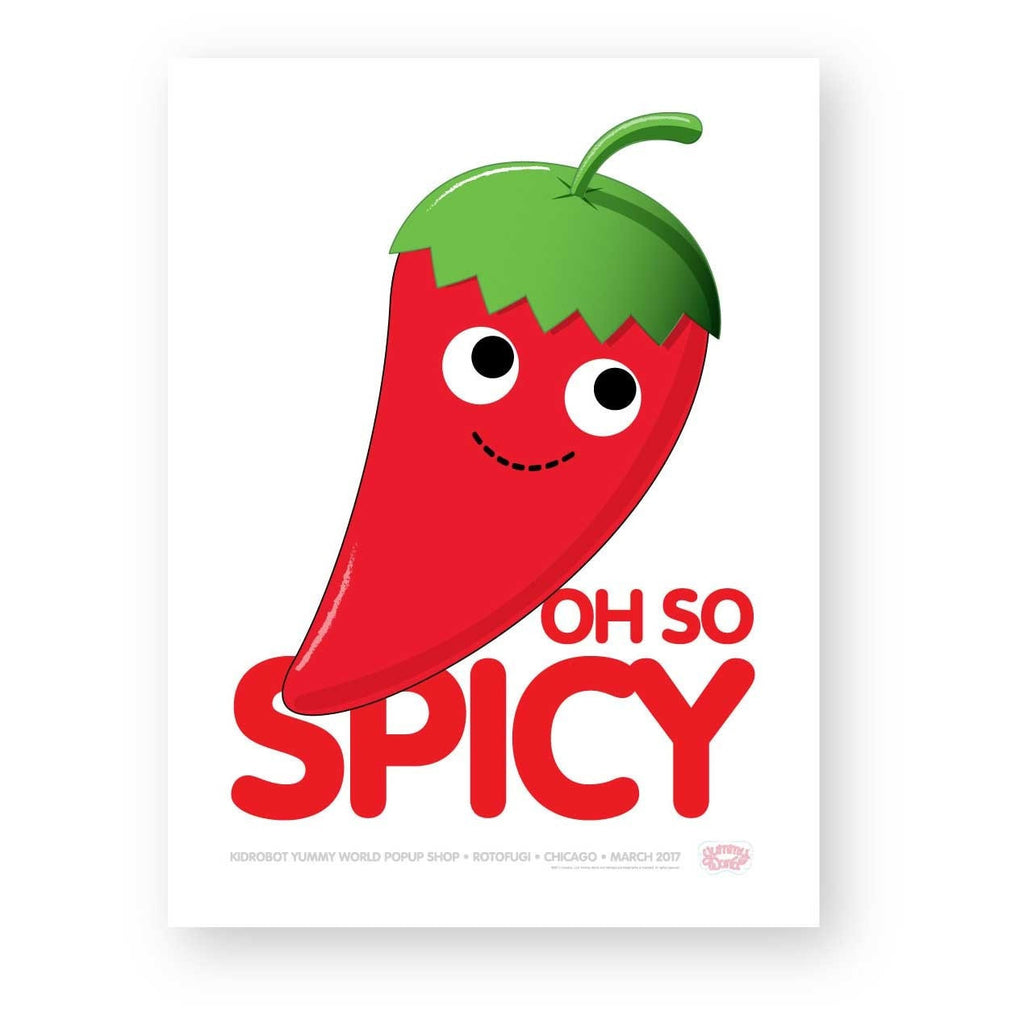 Oh So Spicy Yummy World Limited Edition Poster