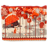 Origami Red Zipper Pouch