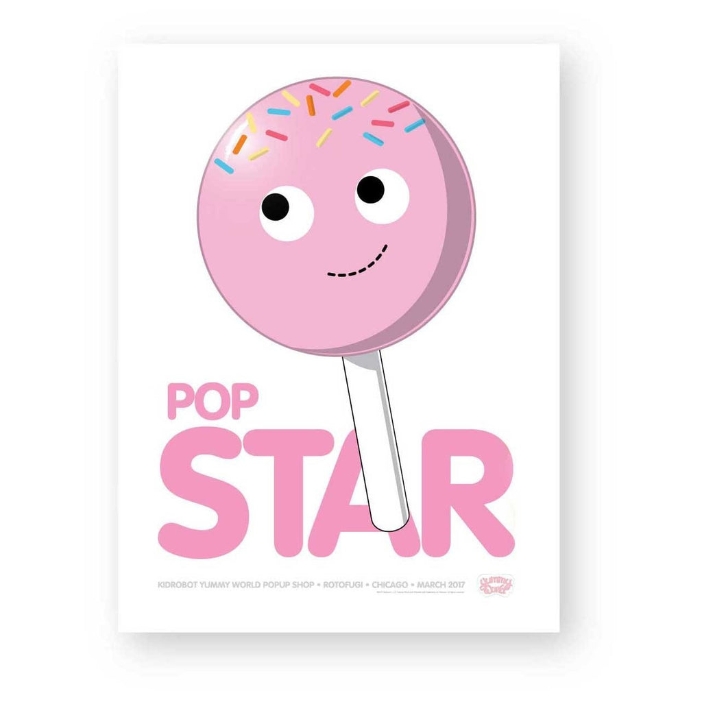 Pop Star Yummy World Limited Edition Poster