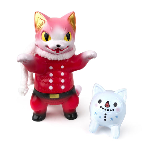 Konatsu Negora Santa with Cat Daruma Snowman