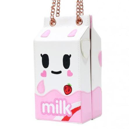 Denim Daze Strawberry Milk Handbag by Tokidoki