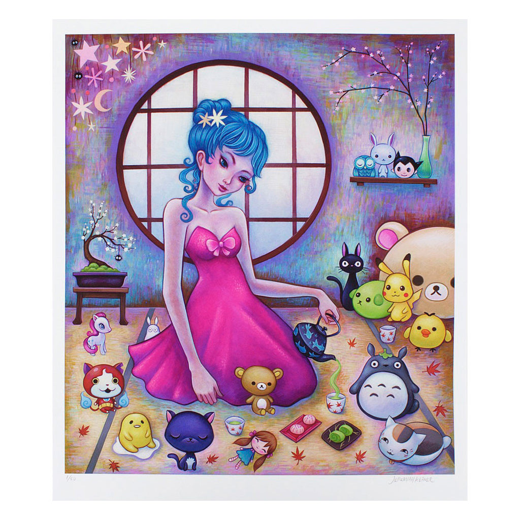 Tea with Friends Print by Jeremiah Ketner