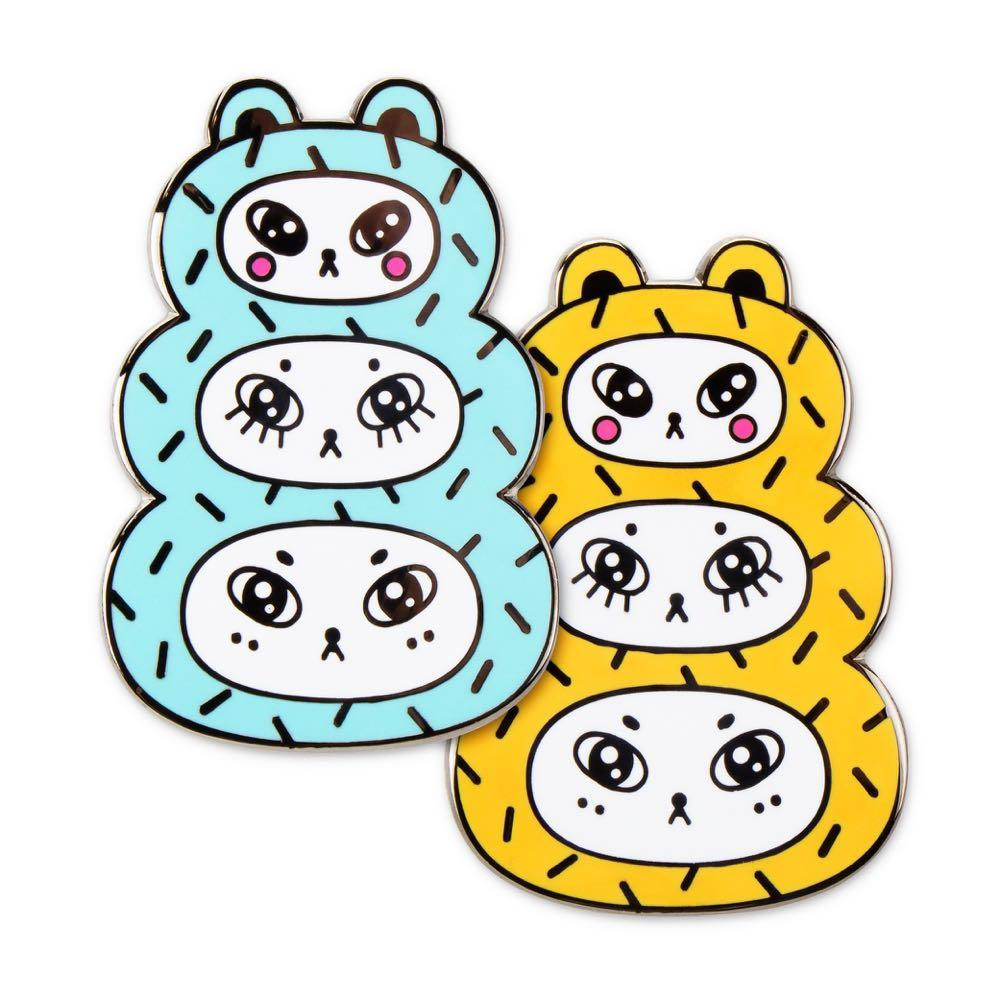 The Artpin Collection - Three Bears - Blue or Gold