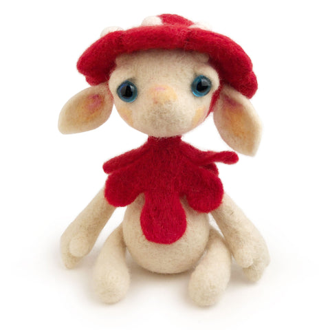 Wool Folks Woodland Elf — Red