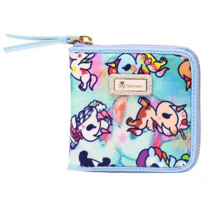 Watercolor Paradise Small Zip-Around Wallet from tokidoki