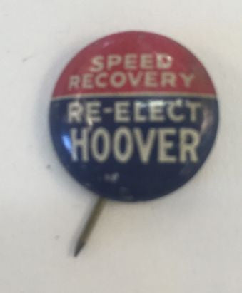 1932 political speed recovery re-elect HOOVER - Jarred's Homegoods / Treasure Brokers  - 1