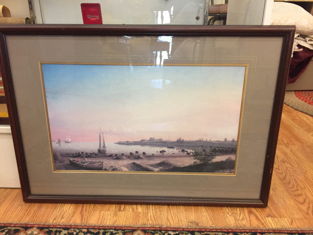 34 x 23.5 Manchester Harbor Fitz Henry Lane - Jarred's Homegoods / Treasure Brokers