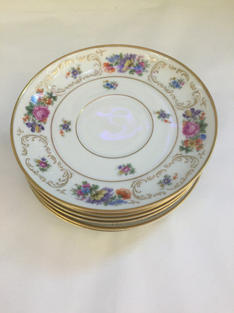 (6) Tea Cup Saucers Bavaria Tirschenreuth Dresden 4326 - Jarred's Homegoods / Treasure Brokers  - 1