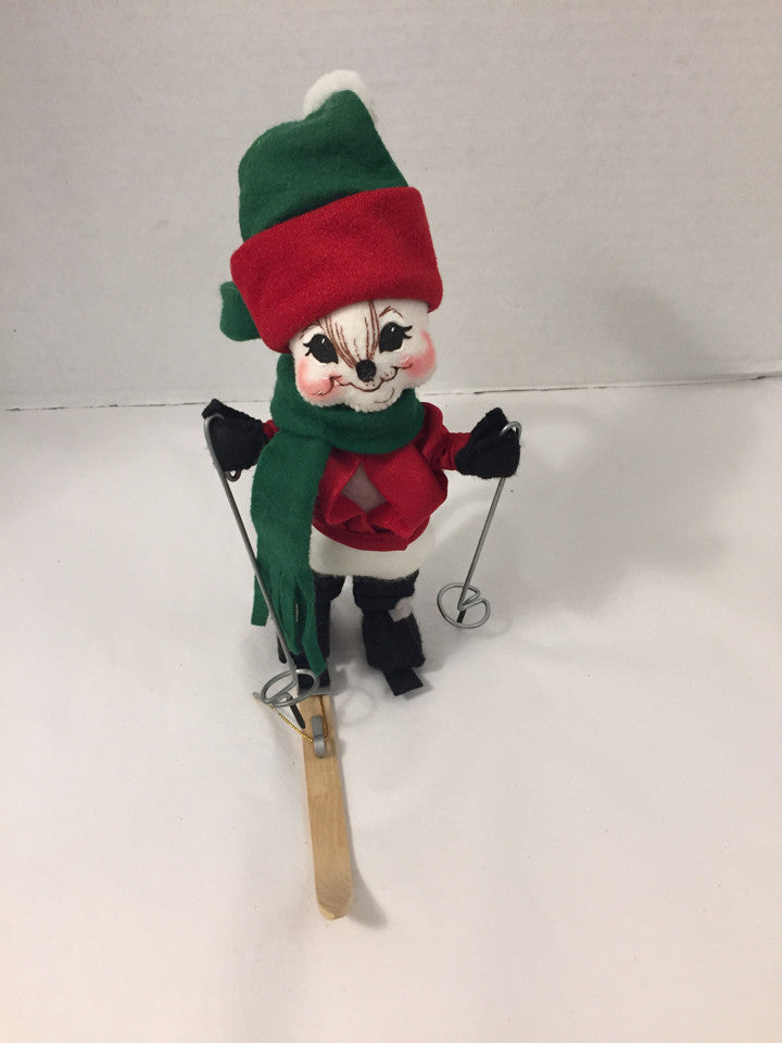 "Annalee 2002 7"" Alpine Ski Mouse Holiday"