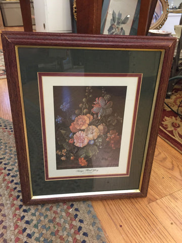 """Antique Floral Glory"" Framed Print - Jarred's Homegoods / Treasure Brokers  - 1"