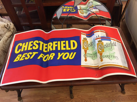 Banner / Vintage Tobacco Advertising Memorabilia   Chesterfield - Jarred's Homegoods / Treasure Brokers  - 1