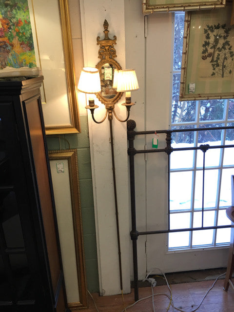 Brass Sconce / Wall Lamp - Double Arm - Electric