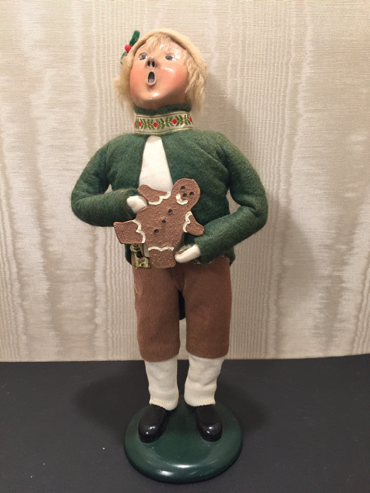 Buyers Choice LTD The Carolers 1993  Bavarian Boy with Gingerbread Boy Holiday