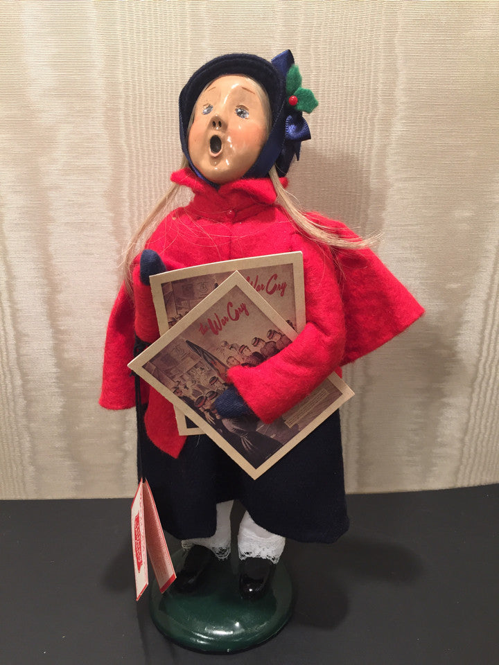 Byers Choice LTD 1995 The Carolers The Salvation Army Girl with War Cry Holiday