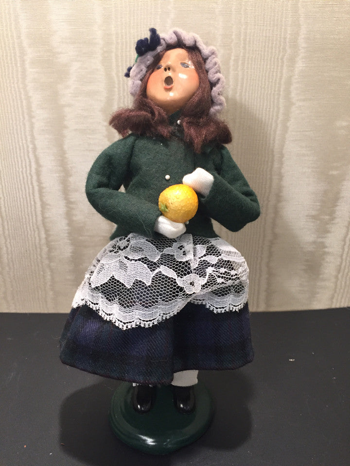 Byers Choice LTD Child with Fruit 1999 Holiday
