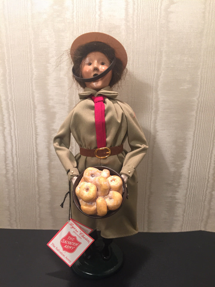 Byers Choice LTD The Carolers The Salvation Army Donut Girl 2002 Holiday