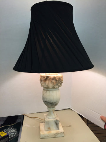 Carved Marble Elephant Head Table Lamp w/ Shade - Jarred's Homegoods / Treasure Brokers  - 1