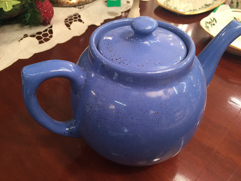Ceramic Blue Tea Pot - Jarred's Homegoods / Treasure Brokers  - 1
