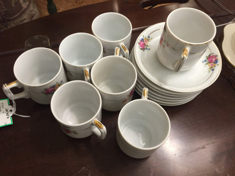 Demitasse Cup and Saucer Set Made in Occupied Japan - Jarred's Homegoods / Treasure Brokers