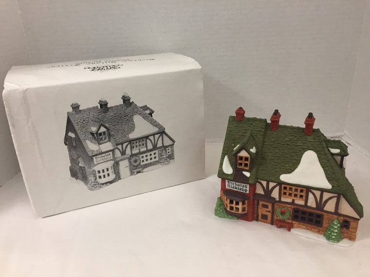 "Department 56  Dickens Village Series Nicholas Nicklehy ""Cottage"" 5925-0 Holiday"