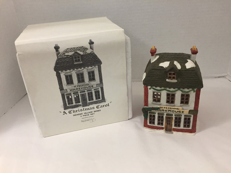Department 56 A Christmas Carol 3 Piece Set M Fezziwig Warehouse Holiday