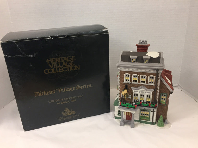 Department 56 Charles Dickens Heritage Crown & Cricket Inn  Holiday