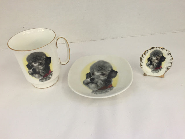 """Dog"" Royal Windsor Cup/Saucer & Name Card Holder - Jarred's Homegoods / Treasure Brokers  - 1"