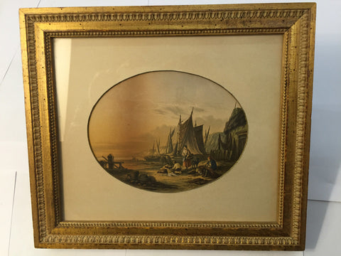 Framed Print - Oval in Rect   Ships - Jarred's Homegoods / Treasure Brokers  - 1