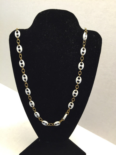 Gold and White Two Tone Necklace - Jarred's Homegoods / Treasure Brokers  - 1