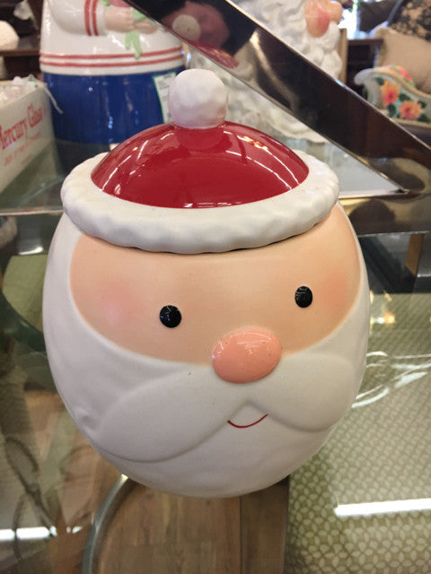 Hallmark Mary Engelbreit Santa  Cookie Jar Holiday