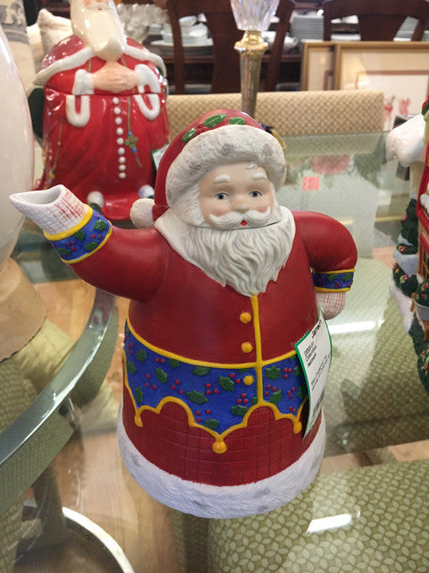 Hallmark Mary Engelbreit The Wonder of Christmas Santa Claus Teapot  Holiday