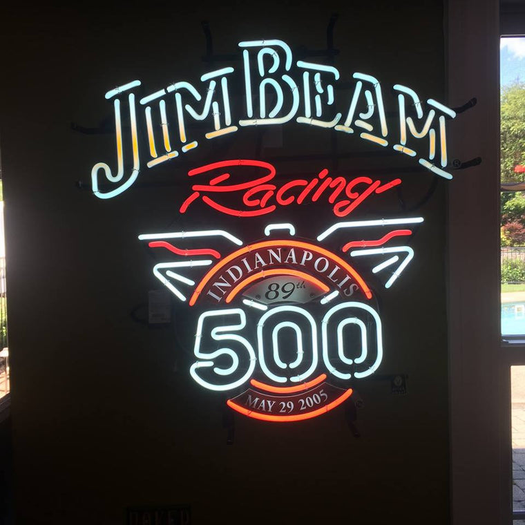 Jim Beam Racing Indianapolis 89th 500 May 29, 2005   Neon Sign - Jarred's Homegoods / Treasure Brokers