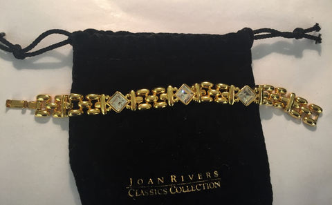 Joan Rivers Goldtone Panther Link Bracelet