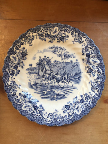 Johnson Brothers Coaching Scenes Blue & White Bread Plate - Jarred's Homegoods / Treasure Brokers  - 1