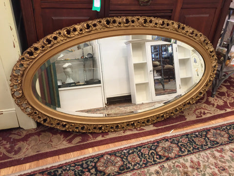 Mirror Gold Frame Oval - Jarred's Homegoods / Treasure Brokers