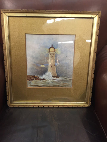 Oil on Board - Lighthouse - Jarred's Homegoods / Treasure Brokers