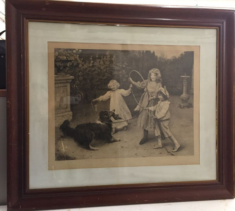 Prints - Not Caught by Arthur J. Elsley, Stamp Sealed, & Signed - Jarred's Homegoods / Treasure Brokers