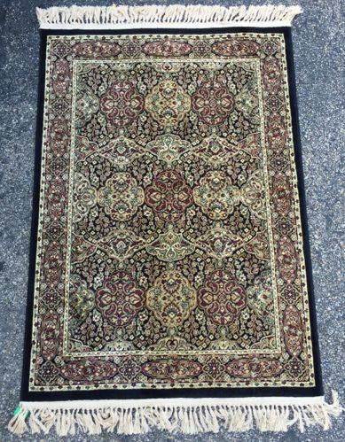 Scatter Rug  Hand Knotted   Belgium   Silk  3x5 - Jarred's Homegoods / Treasure Brokers  - 1