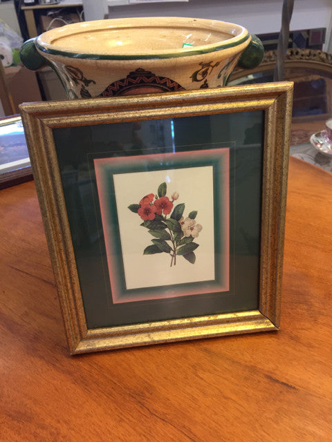 Small Gold Framed Floral Print - Jarred's Homegoods / Treasure Brokers  - 1