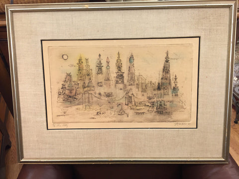 """The City"" Irving Amen 1963 18/90 - Jarred's Homegoods / Treasure Brokers  - 1"