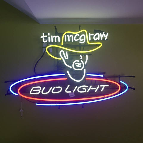 Tim McGraw Bud Light Neon Sign - Jarred's Homegoods / Treasure Brokers  - 1
