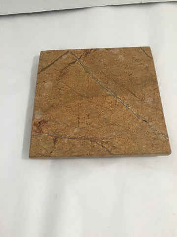 Travertine Candle holder / Flat - Jarred's Homegoods / Treasure Brokers