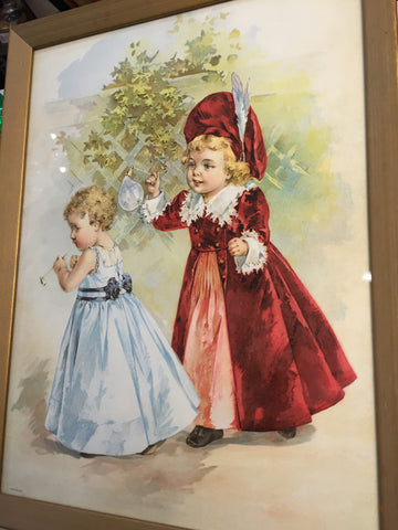 Two Little Girls Playing with Bubbles - Jarred's Homegoods / Treasure Brokers  - 1