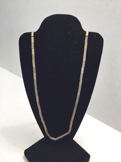Two Tone Bugle Bead Necklace - Jarred's Homegoods / Treasure Brokers  - 1