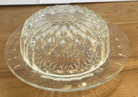 Val St Lambert Signed Covered Crystal Butter Dish - Jarred's Homegoods / Treasure Brokers  - 1
