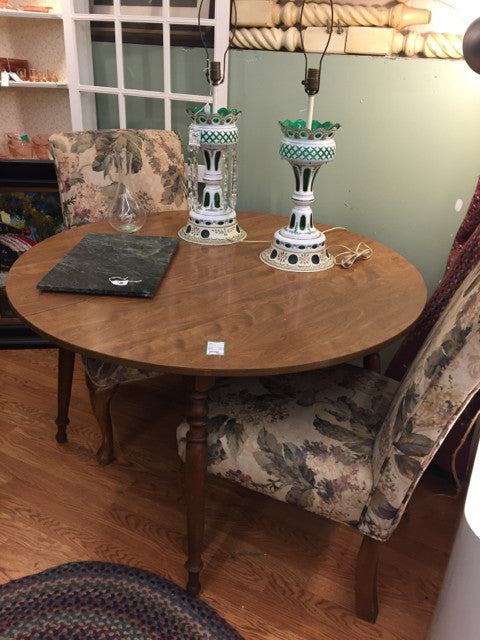 Vintage Ethan Allen Maple Round Dining Table - Jarred's Homegoods / Treasure Brokers  - 1