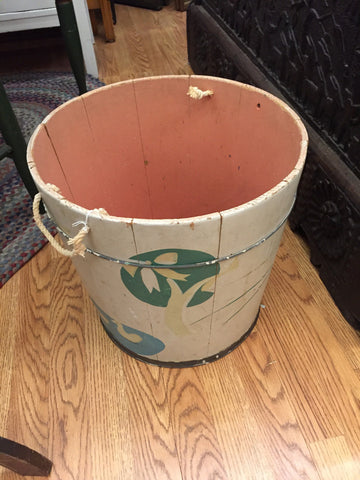 Vintage Painted Wooden Bucket by Helen Hume -   - 1